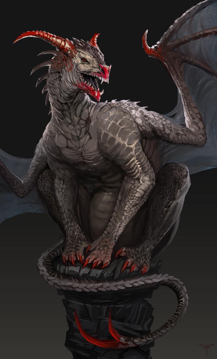 Bloodhorn Dragon by telthona