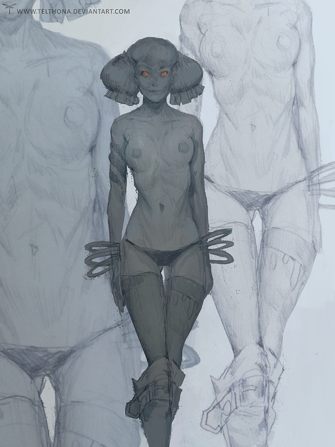 Sketch 3 by telthona