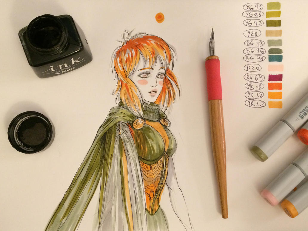 Copic ginger by telthona