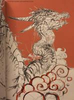 dragon in orange    sketchbook by telthona