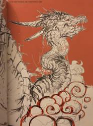 dragon in orange || sketchbook by telthona