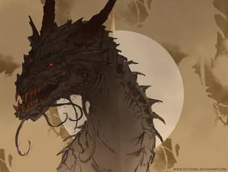 Copper teeth dragon    sketchbook