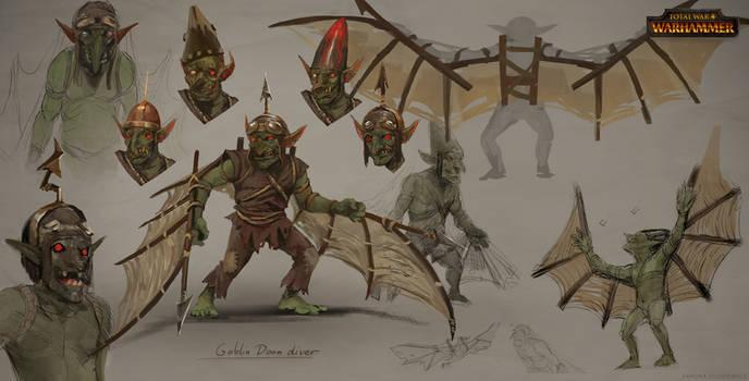 Total War: Warhammer Concept Art Goblin Doom Diver