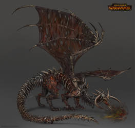 Total War: Warhammer Concept Art - Zombie Dragon by telthona