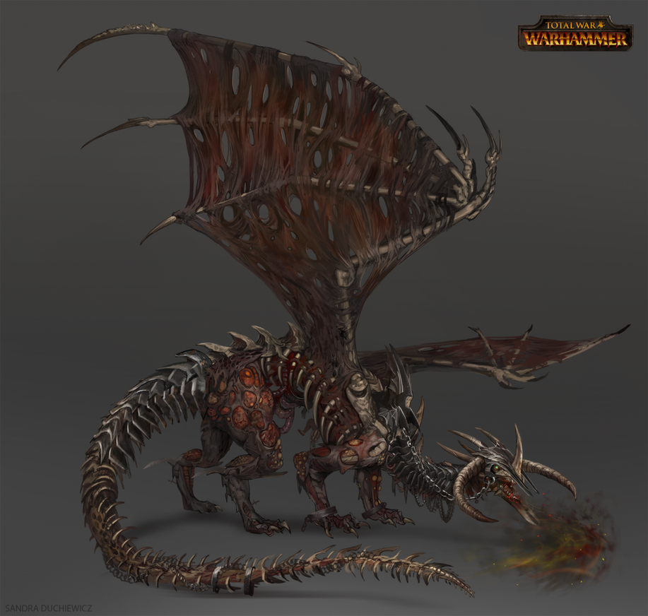 Total War: Warhammer Concept Art - Zombie Dragon by ...
