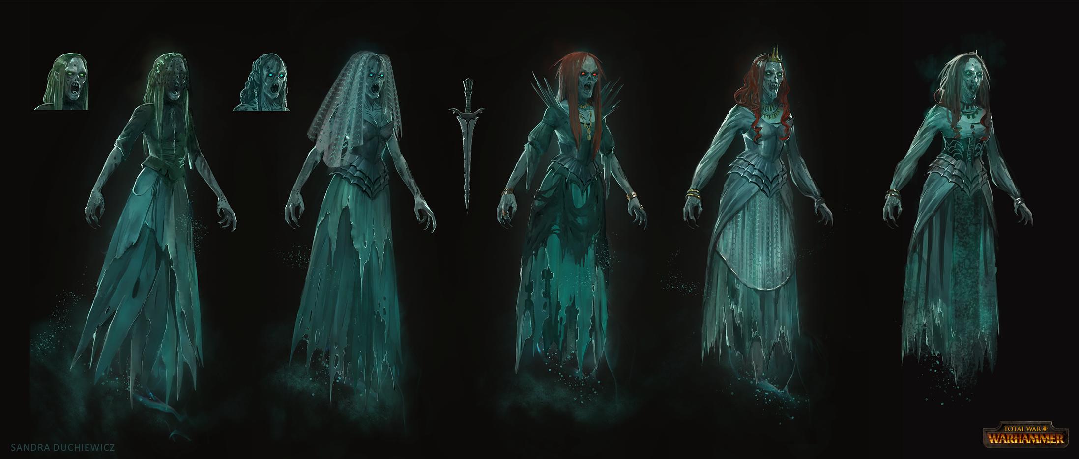 Total War: Warhammer Concept Art - Banshee by telthona