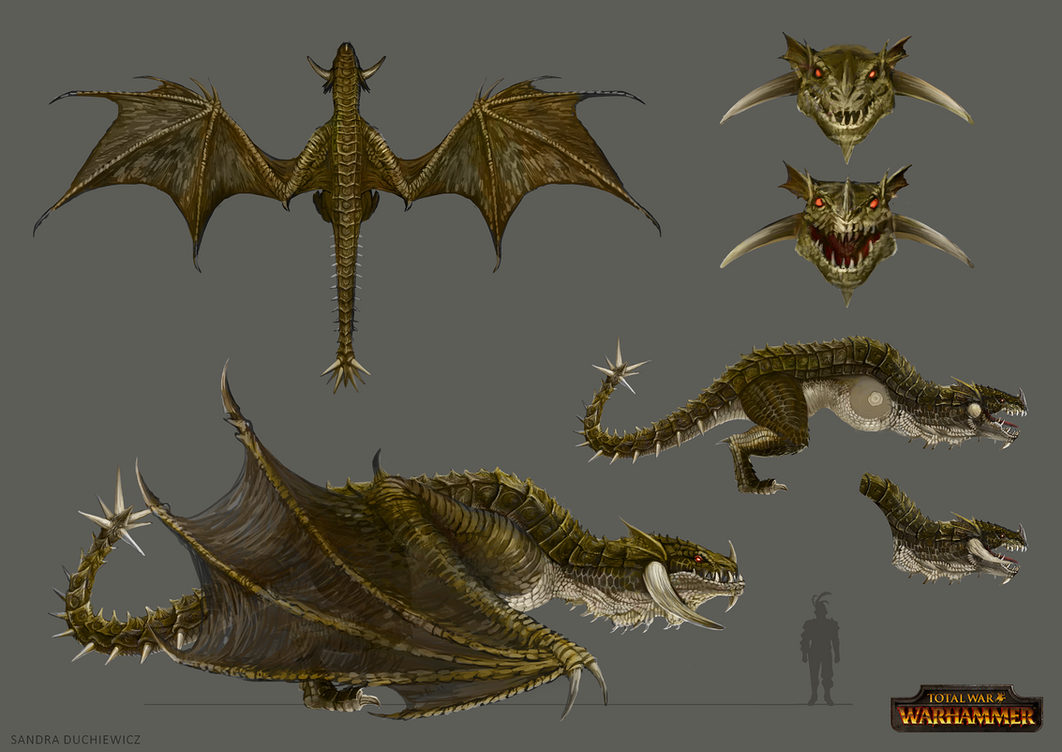 Total War: Warhammer Concept Art - Wyvern by telthona