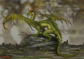 Total War: Warhammer Concept Art - Forest Dragon