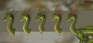 Total War: Warhammer Concept Art - Forest Dragon 2