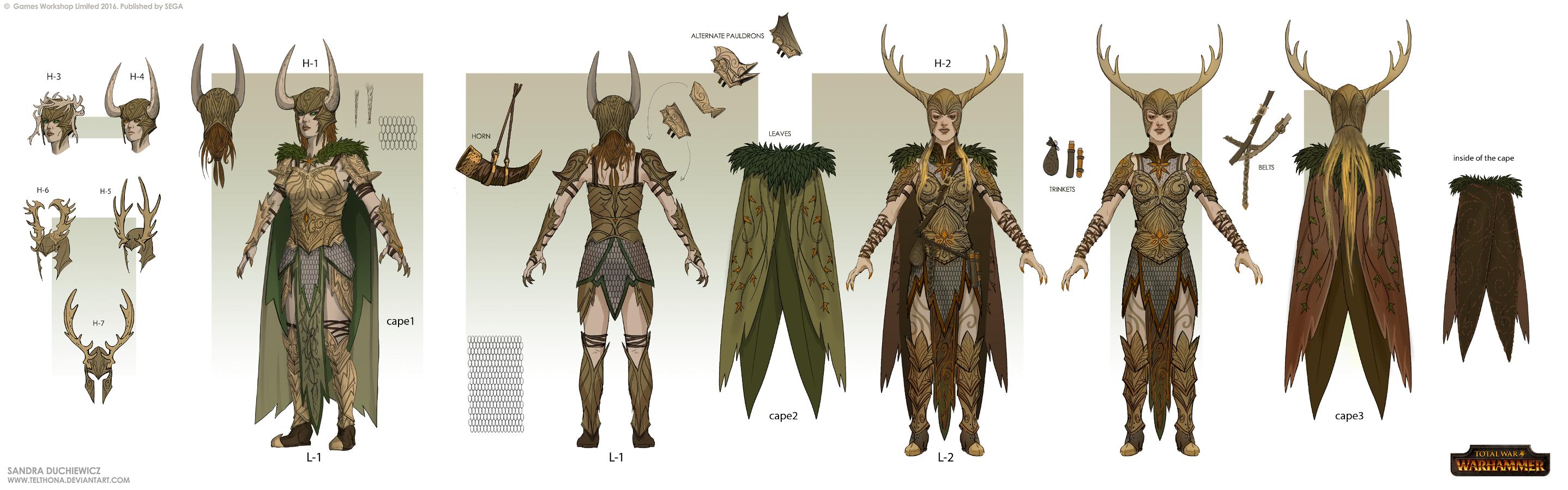Total War: Warhammer Concept Art - Gladelords
