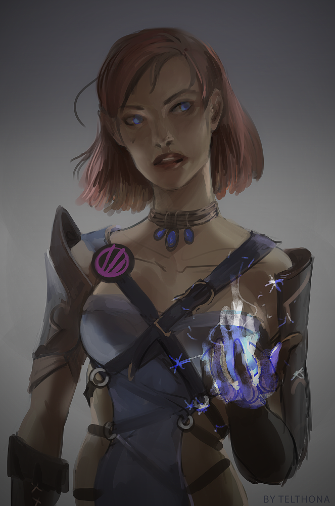 Ice Mage WIP by telthona