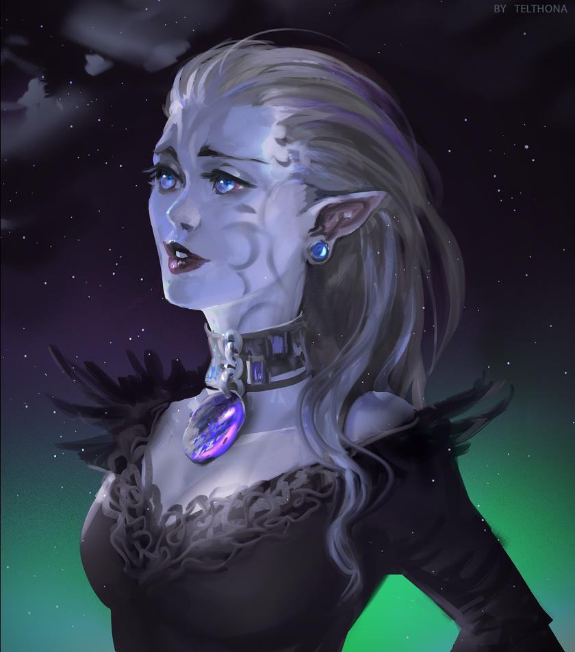 Elven aurora by telthona