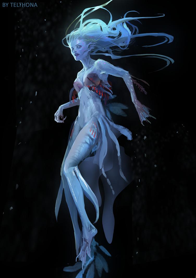 mermaid blue by telthona on deviantart