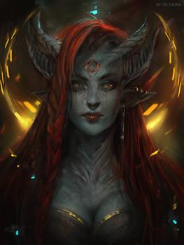 Demon girl by telthona