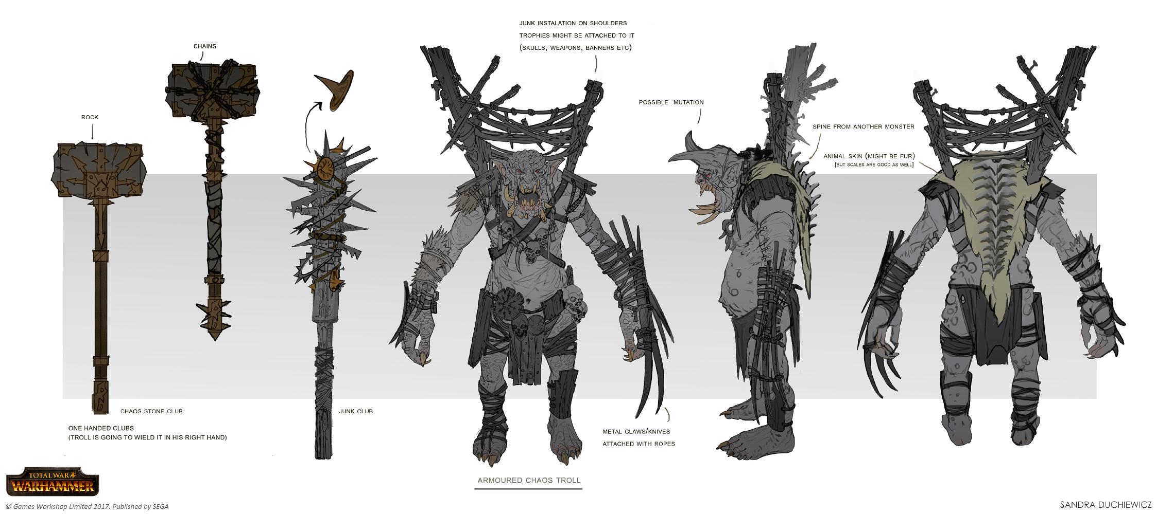 Total War: Warhammer - Armoured Chaos Troll