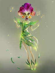 Singing Pansy by telthona