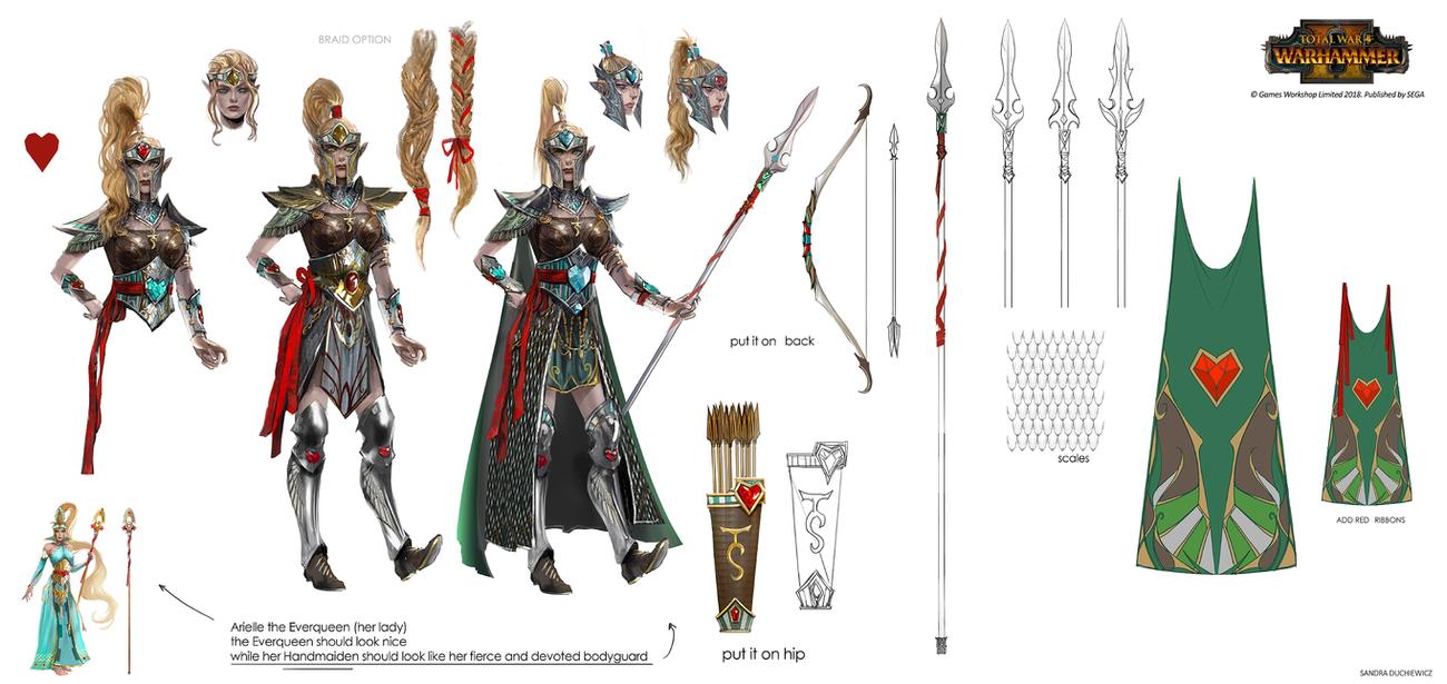 Total War: Warhammer 2 Handmaiden Of The Everqueen by telthona