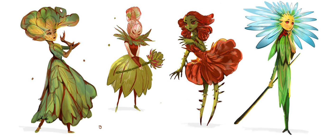 Floral fairies by telthona