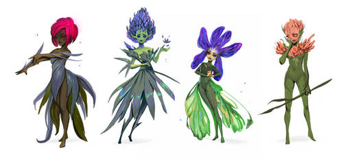 Floral Fairies 2 by telthona