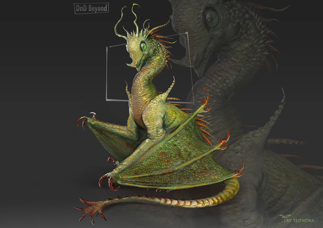 Pocket Dragon Dnd Beyond Tiny Dragon Concept Art C