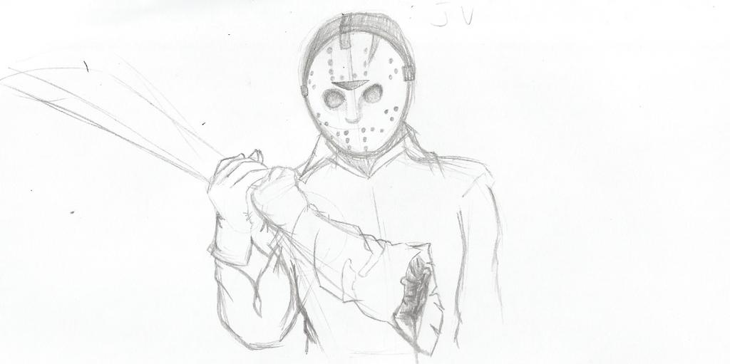 Jason Voorhees Sketch by TheIcedWolf