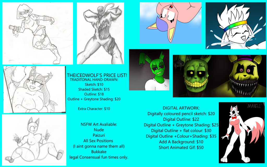 PRICE LIST! by TheIcedWolf