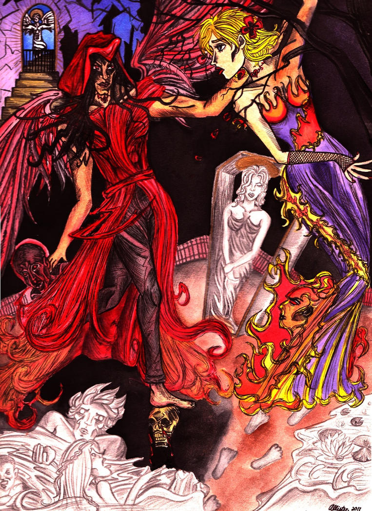 Death Courts the Maiden by honeysuckle-wine