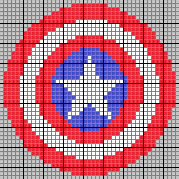 Captain America Knittingcross Stitch Pattern By Summercorn On