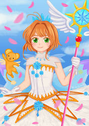 Sakura Clear Card Hen by vanbueno