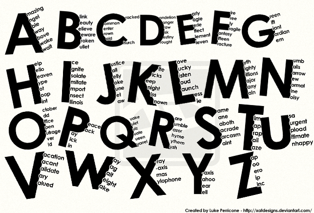 Alphabet Typography By SyntheticsArt On DeviantArt
