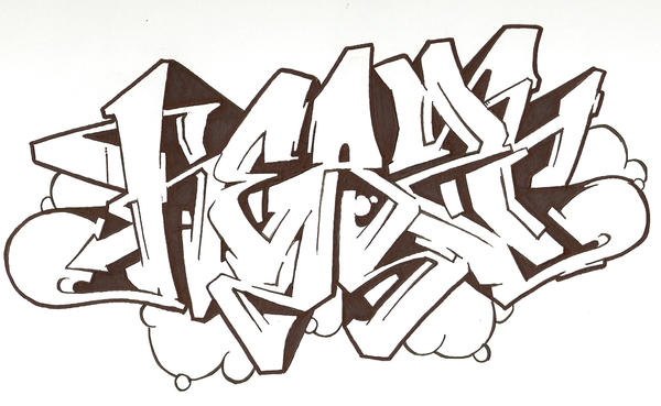 Graffiti sketch 'no colour' by Heazy