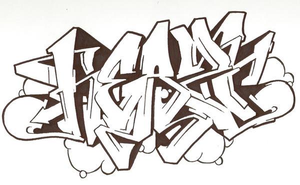 Graffiti sketch 'no colour' by Heazy