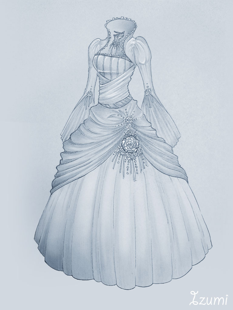 Wedding dress by izumik on deviantart for How to draw a wedding dress