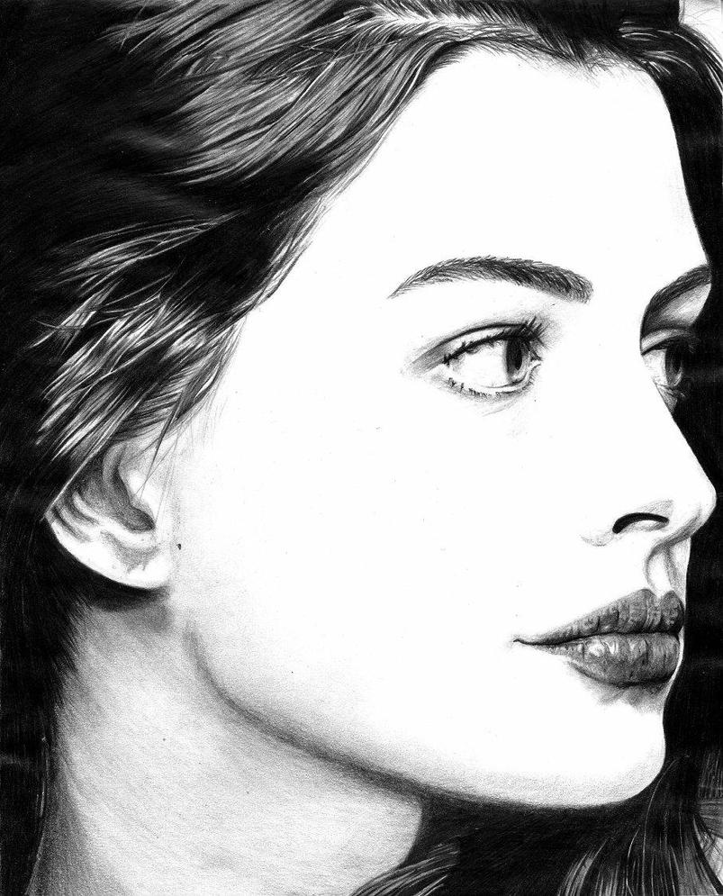 Anne Hathaway Drawing