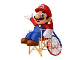 Courtside Mario by SoloBouquet