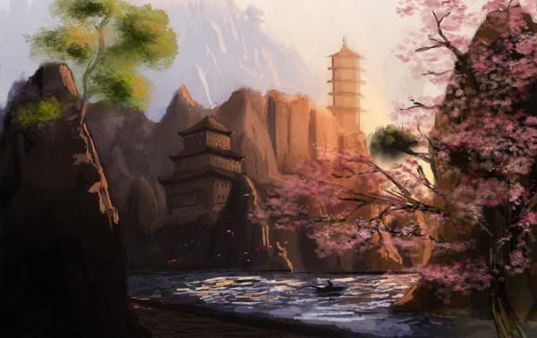 Rivers Bend Monastery by JaikArt