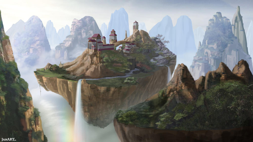 Floating Island Houses Paintings