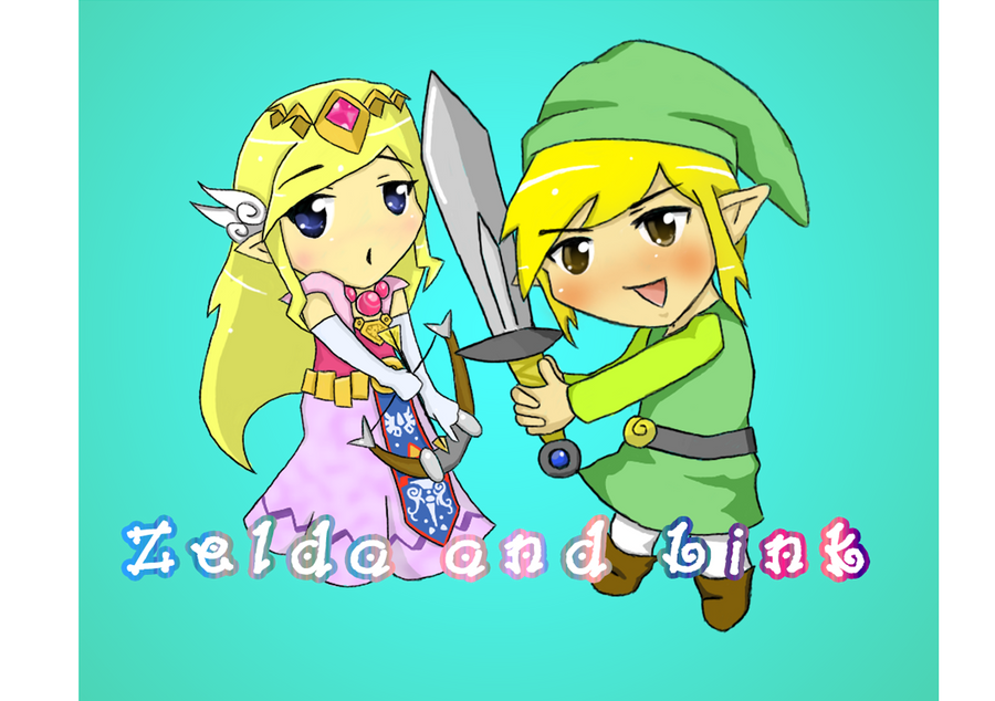 Toon Link and Zelda :. by Chazx3 on DeviantArt