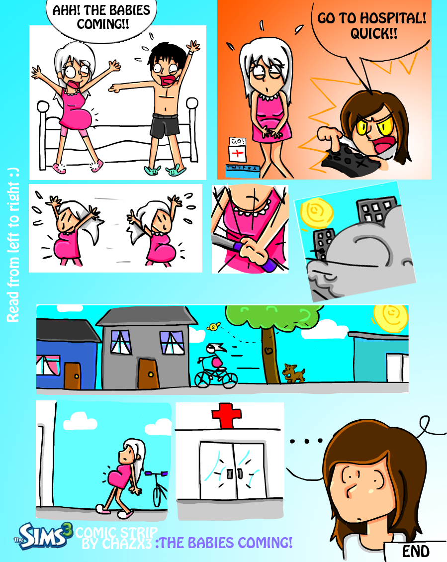 .: Gamin strip: Sims 3 :. by Chazx3