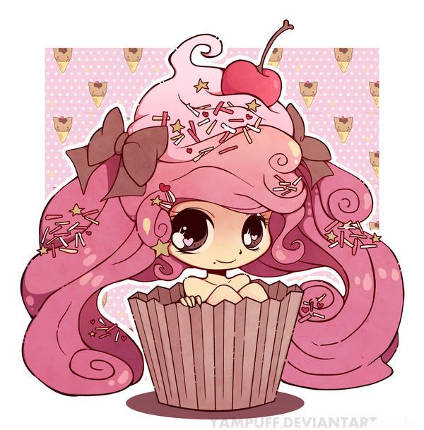 Collab: Cupcake girl by Koizumi6456 on DeviantArt