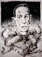 H P Lovecraft horror book freak by TheGurch
