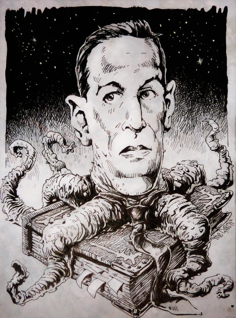 H P Lovecraft horror book freak by TheGurch