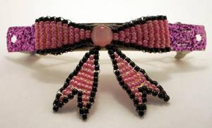 Pink Bow Hairclip
