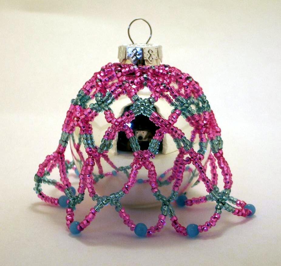 Ornament PinkBlue Small Dangle