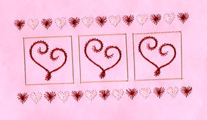 Valentine Embroidered Paper