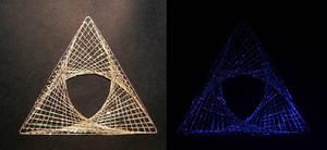 GlowInTheDark Triforce-y PaperEmbroidery