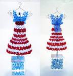 USA Patriotic Bead Dress