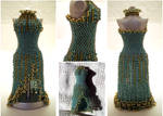 Jade SplitSkirt Bead Dress Long Waist