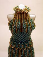 Jade SplitSkirt Bead Dress Glamour Shot by pinkythepink