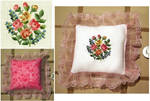Floral Mini Pillow by pinkythepink